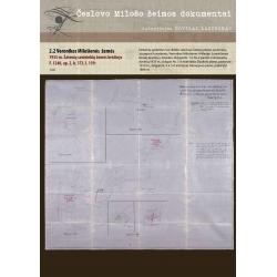 1935 m. Šateinių savininkių žemės brėžinys